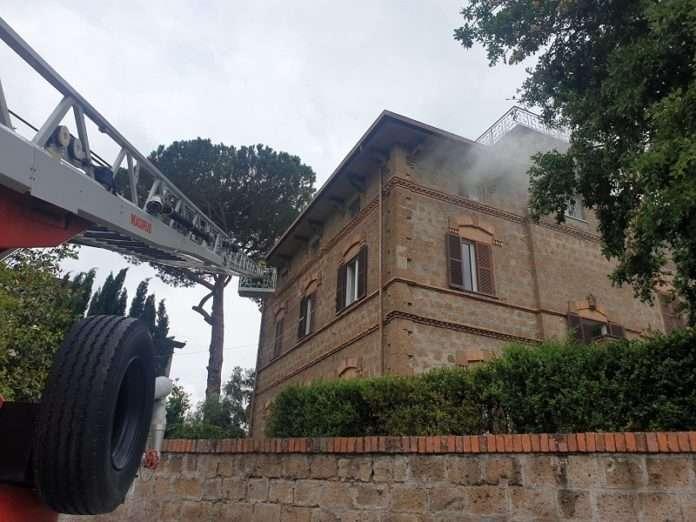 incendio appartamento Vetralla