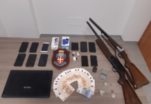 droga e armi sequestrate